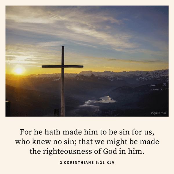 2 Corinthians 5:21 KJV Image