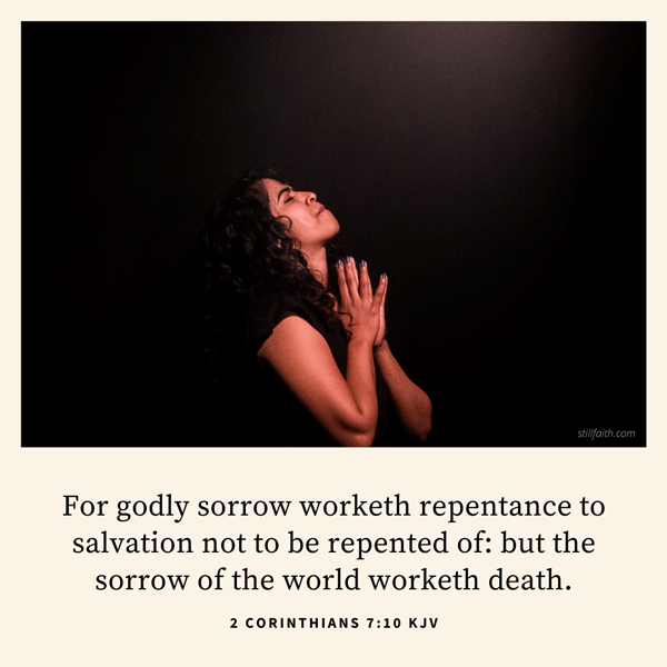 2 Corinthians 7:10 KJV Image