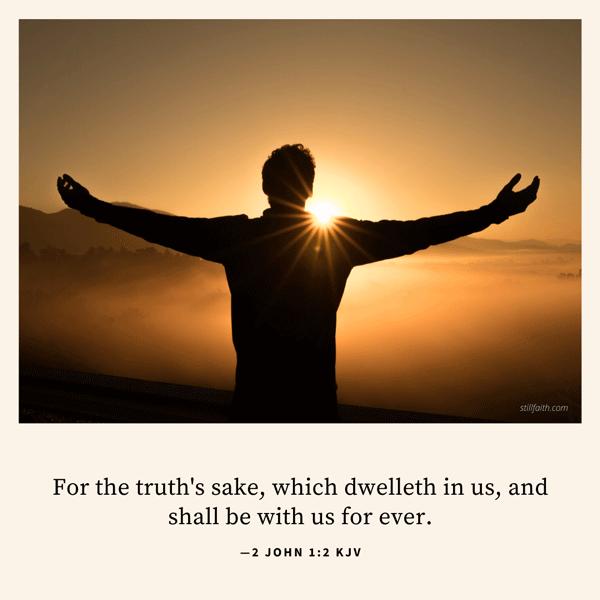 2 John 1:2 KJV Image