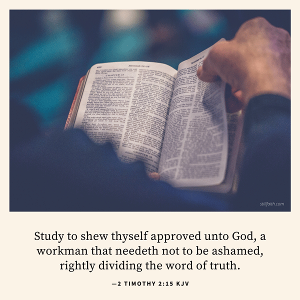 2 Timothy 2:15 KJV Image