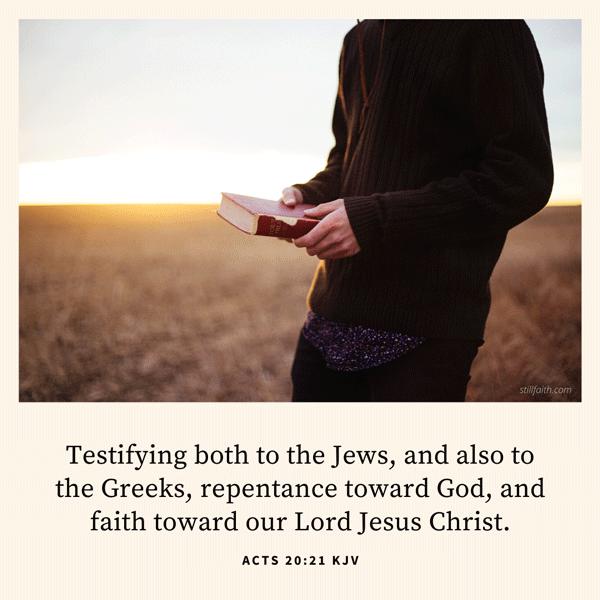 Acts 20:21 KJV Image