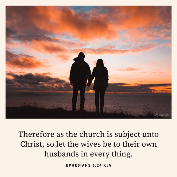 Ephesians 5:24 KJV Image