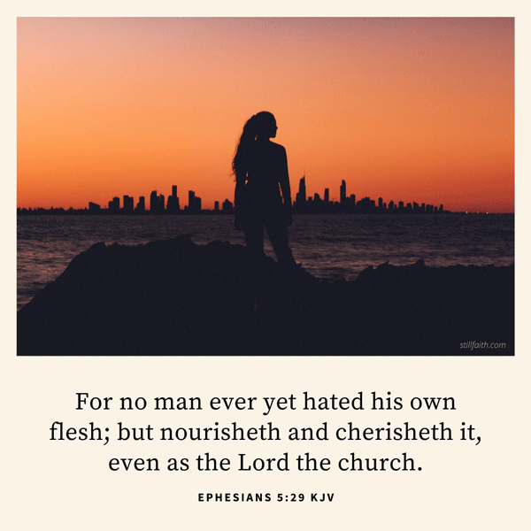 Ephesians 5:29 KJV Image