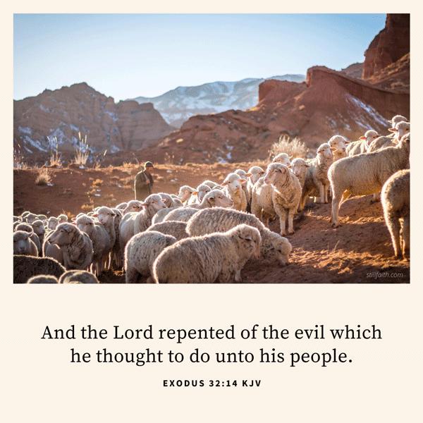 Exodus 32:14 KJV Image