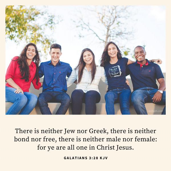 Galatians 3:28 KJV Image