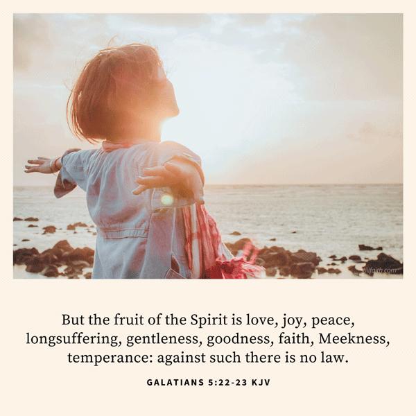 Galatians 5:22-23 KJV Image