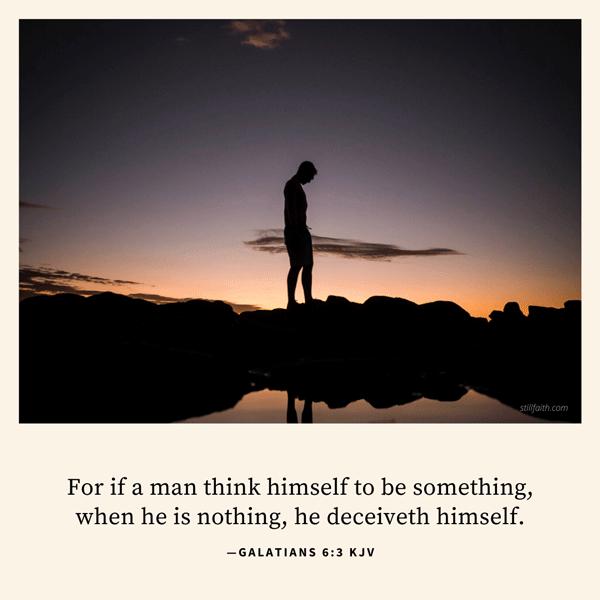 Galatians 6:3 KJV Image