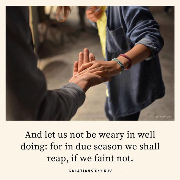 Galatians 6:9 KJV Image