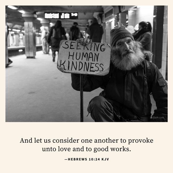 Hebrews 10:24 KJV Image