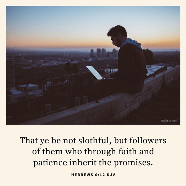 Hebrews 6:12 KJV Image