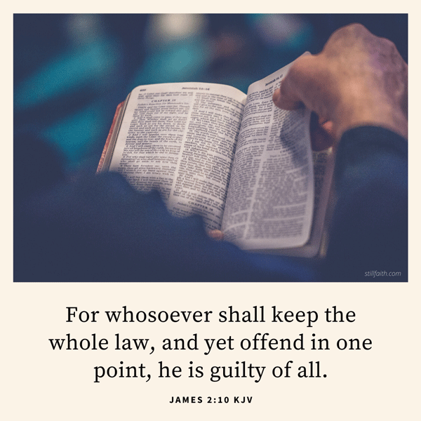 James 2:10 KJV Image