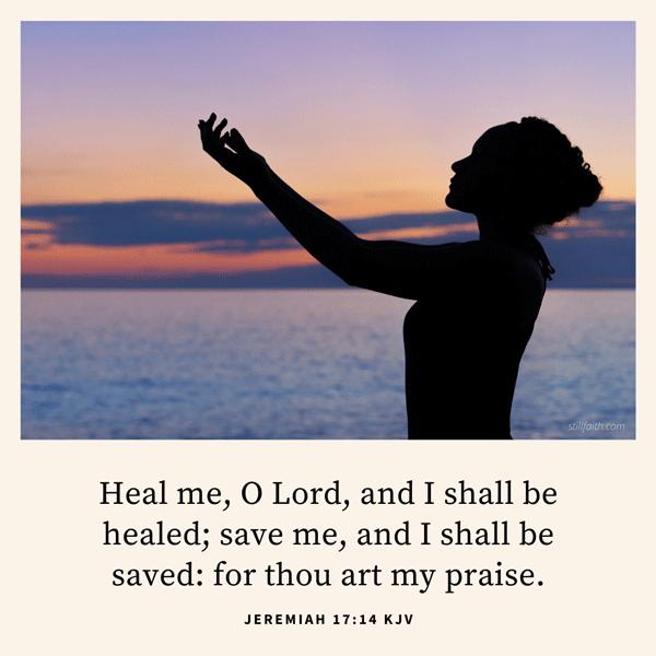 Jeremiah 17:14 KJV Image