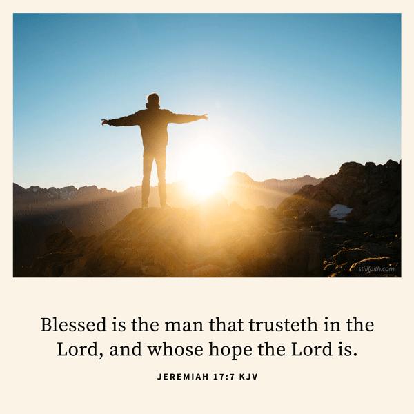 Jeremiah 17:7 KJV Image