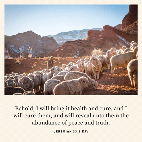 Jeremiah 33:6 KJV Image
