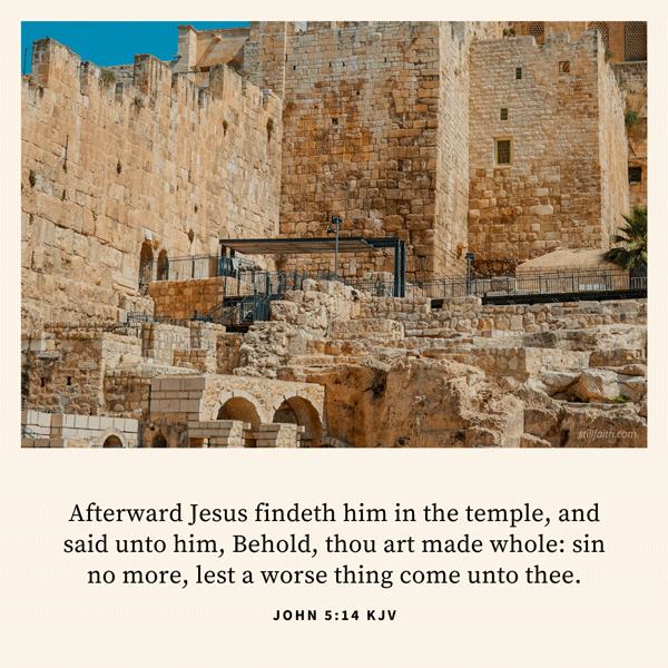 John 5:14 KJV Image