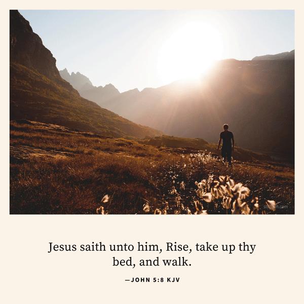 John 5:8 KJV Image