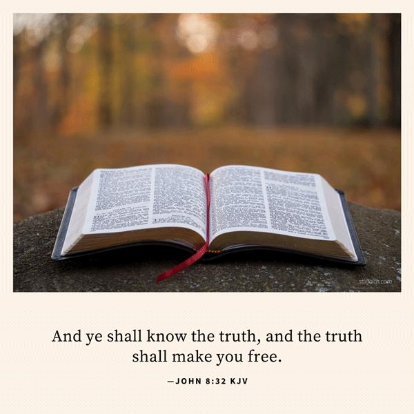 John 8:32 KJV Image