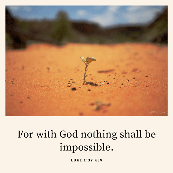 Luke 1:37 KJV Image