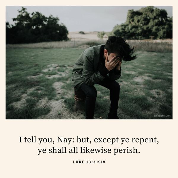 Luke 13:3 KJV Image