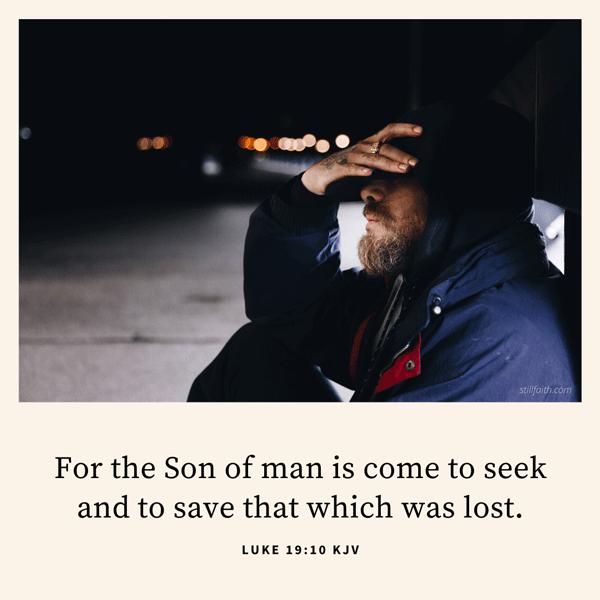 Luke 19:10 KJV Image