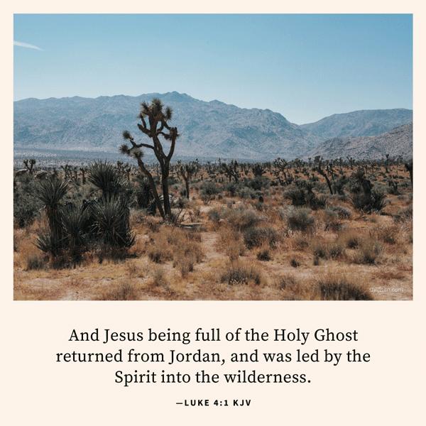 Luke 4:1 KJV Image