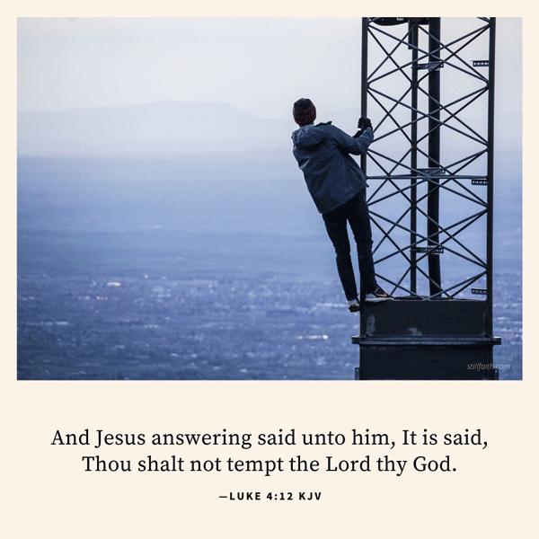 Luke 4:12 KJV Image
