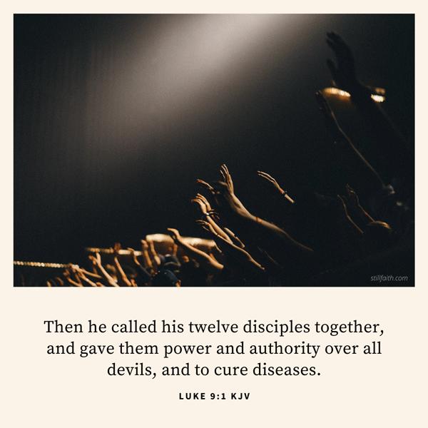 Luke 9:1 KJV Image