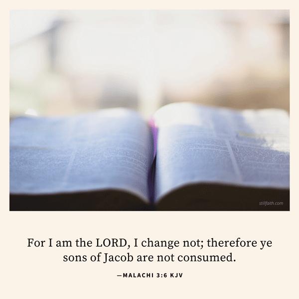 Malachi 3:6 KJV Image