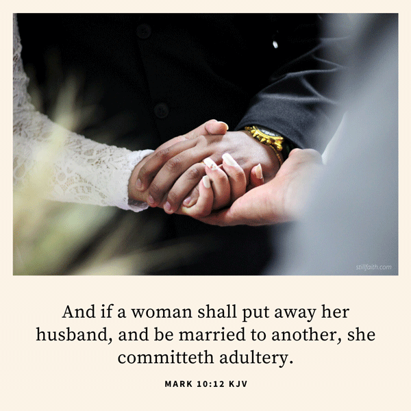 Mark 10:12 KJV Image