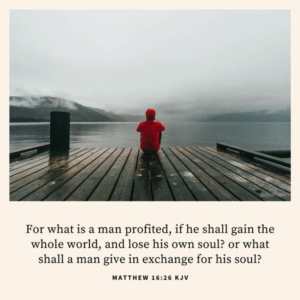Matthew 16:26 KJV Image