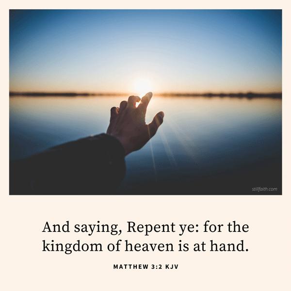 Matthew 3:2 KJV Image