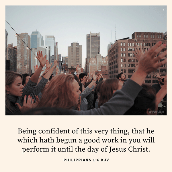 Philippians 1:6 KJV Image