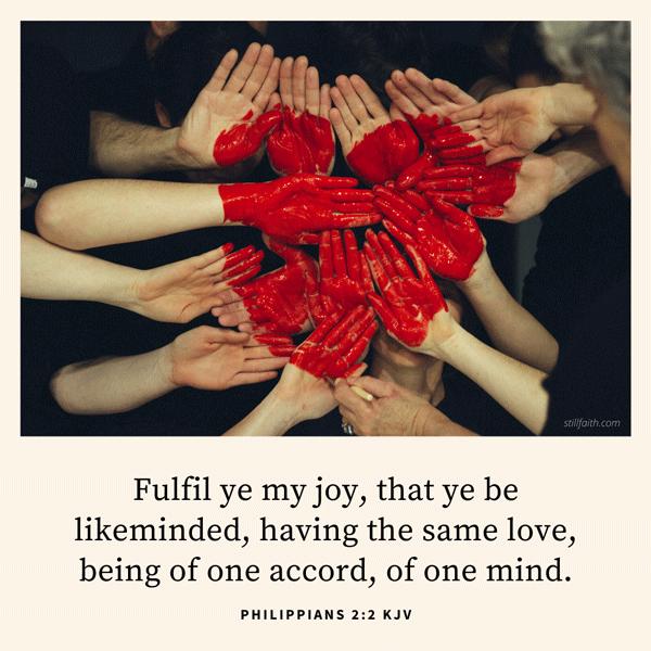 Philippians 2:2 KJV Image