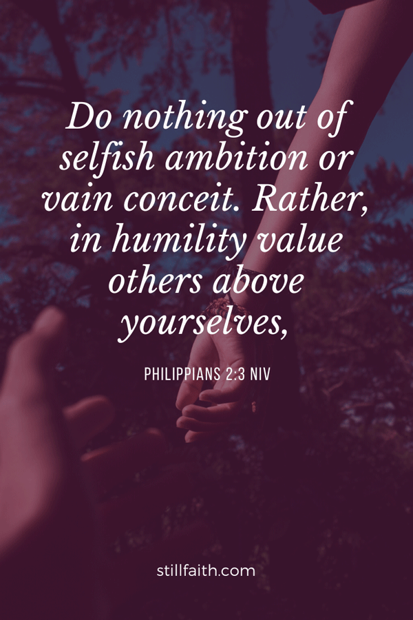 Philippians 2:3 NIV Image
