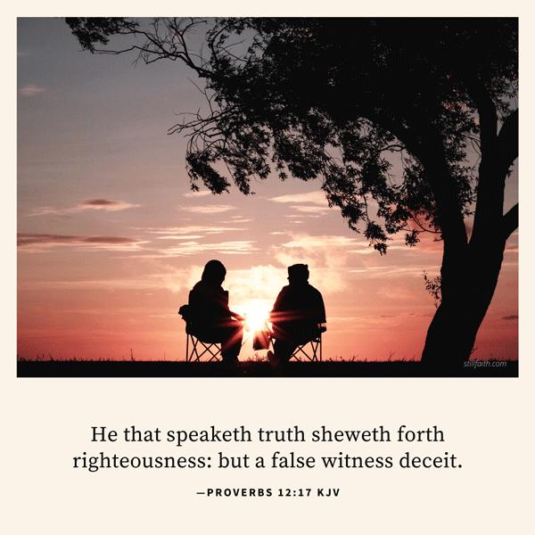 Proverbs 12:17 KJV Image