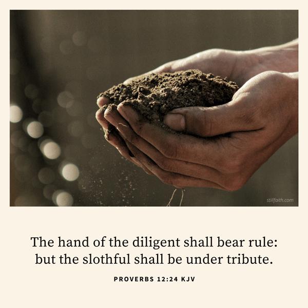 Proverbs 12:24 KJV Image