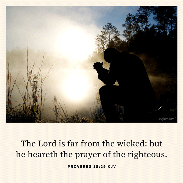 Proverbs 15:29 KJV Image