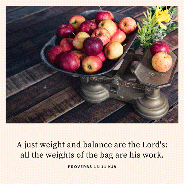 Proverbs 16:11 KJV Image