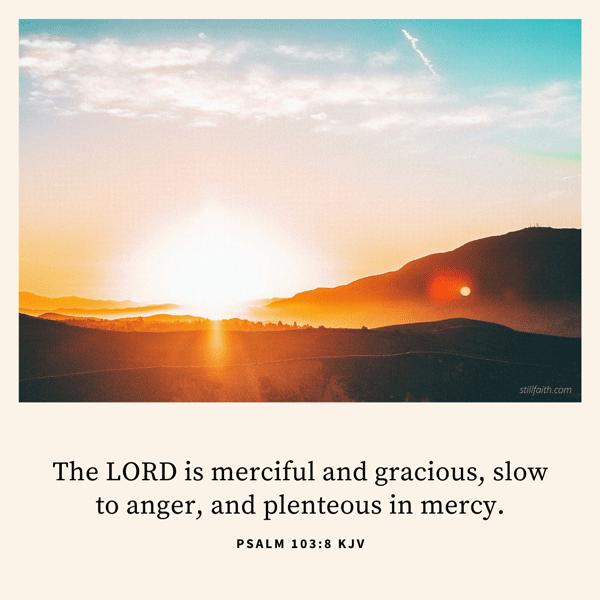 Psalm 103:8 KJV Image