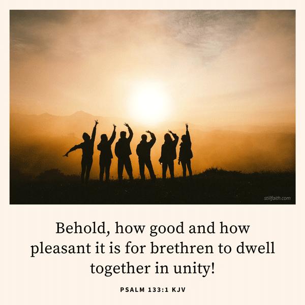 Psalm 133:1 KJV Image