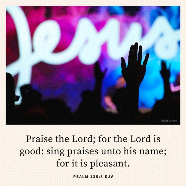 Psalm 135:3 KJV Image