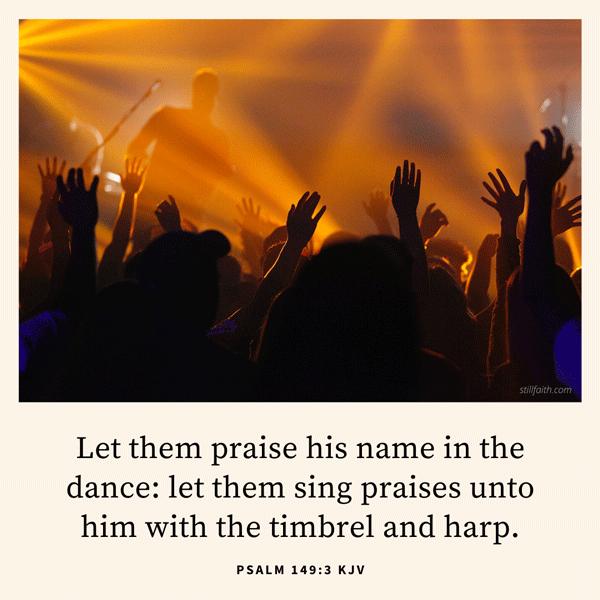 Psalm 149:3 KJV Image