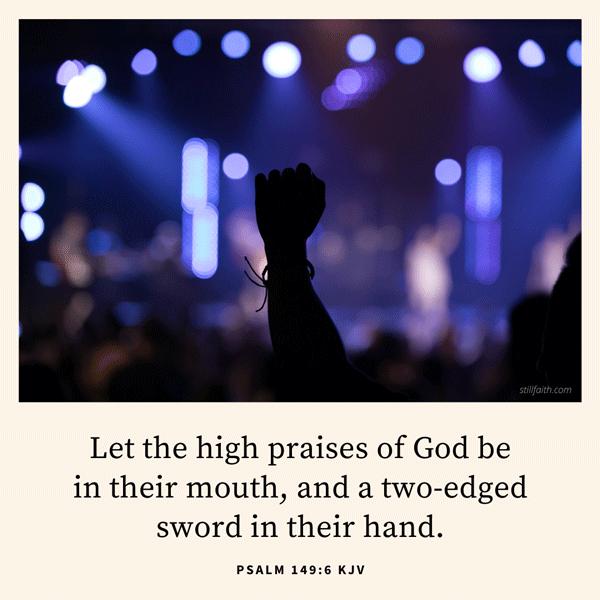 Psalm 149:6 KJV Image