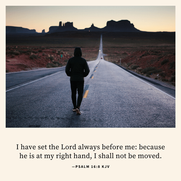 Psalm 16:8 KJV Image