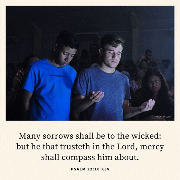 Psalm 32:10 KJV Image