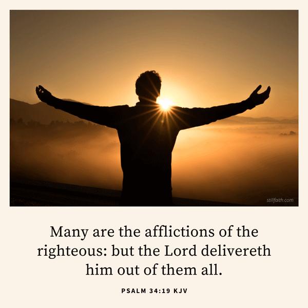 Psalm 34:19 KJV Image