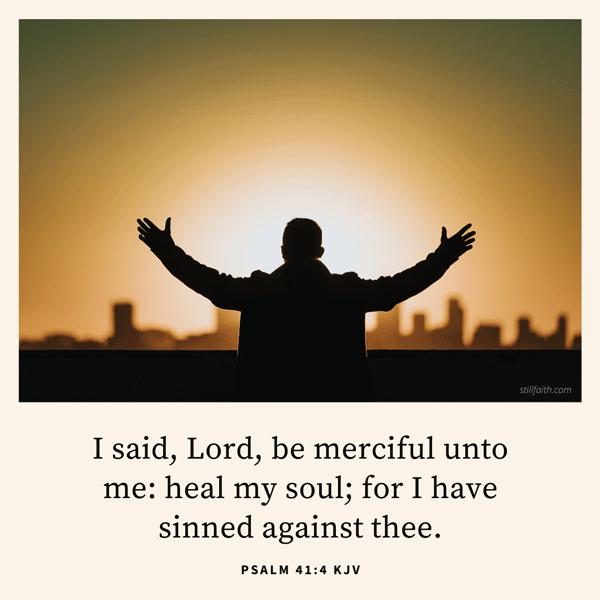 Psalm 41:4 KJV Image