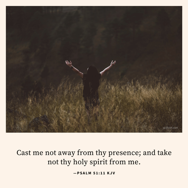 Psalm 51:11 KJV Image