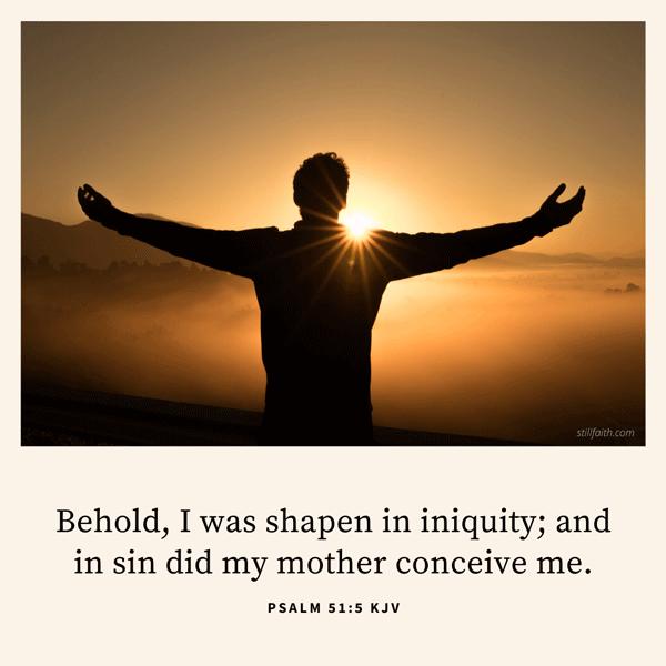 Psalm 51:5 KJV Image