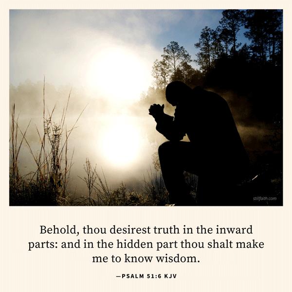 Psalm 51:6 KJV Image